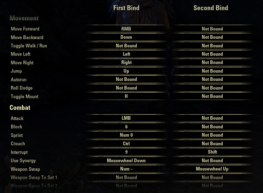 so how do you play the game? Keybinds — Elder Scrolls Online